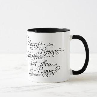 Shakespeare mugg-, Romeo och Juliet Mugg