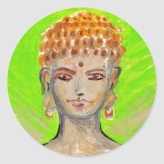 Shakyamuni Buddha klistermärkear Runt Klistermärke