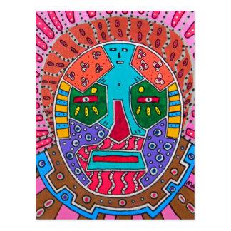 Shamanen maskerar vykort