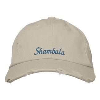 Shambala bedrövade hatten broderad keps