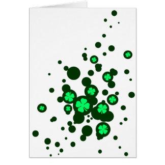 shamrocken bubblar hälsningskort
