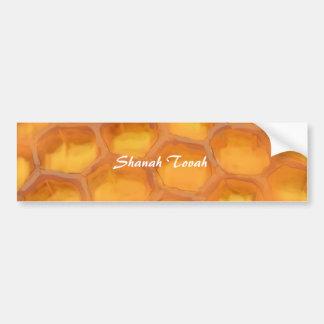 Shanah Tovah honungskakateckning lyckliga Rosh Bildekal