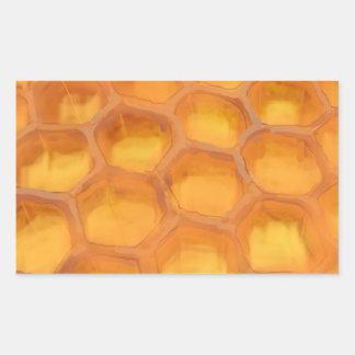 Shanah Tovah honungskakateckning lyckliga Rosh Rektangulärt Klistermärke