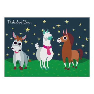 Shane, Tommy och Zora på natten Poster