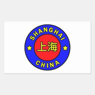Shanghai chinaklistermärke rektangulärt klistermärke