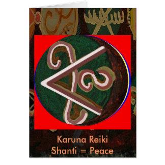 Shanti = fred hälsningskort