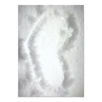 SHAPE OUTL för HJÄRTA för Heart-in-snow1654.jpg 12,7 X 17,8 Cm Inbjudningskort