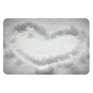 SHAPE OUTL för HJÄRTA för Heart-in-snow1654.jpg Vinyl Magnet