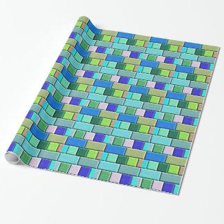 Shappire blått belägger med tegel presentpapper