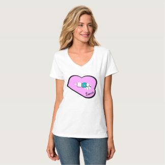Sharnias läppar bästa Kasakhstan (Lt Rosa Läppar) T-shirt