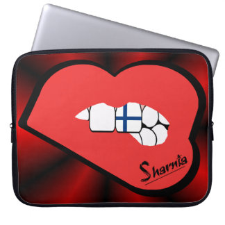 Sharnias läpparFinland laptop sleeve (den röda