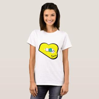 Sharnias läpparKasakhstan T-tröja (den gula T Shirts