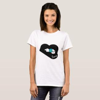 Sharnias läpparKasakhstan T-tröja (den svart Tröjor