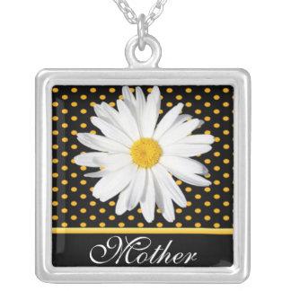 """Shasta daisy på svart """"mor"""" halsband"""