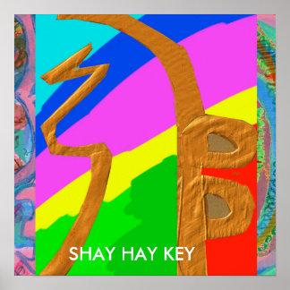SHAYHAYKEY-guld - grundläggande Reiki symbol Poster