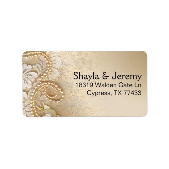 Shayla pärlor och snöre som postar den | äggskalet adressetikett