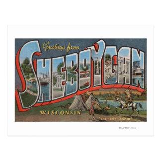 Sheboygan Wisconsin (indier nr. 1) Vykort