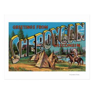 Sheboygan Wisconsin (indier nr. 2) Vykort