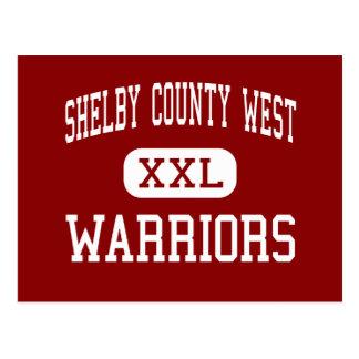 Shelby County väster - krigare - Shelbyville Vykort