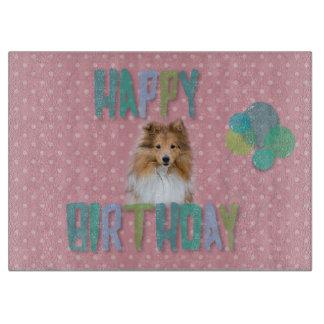 Sheltie Shetland sheepdoggrattis på födelsedagen