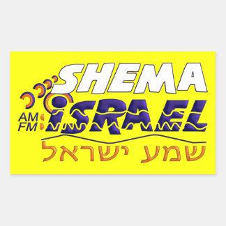 Shema Israel Rektangulärt Klistermärke