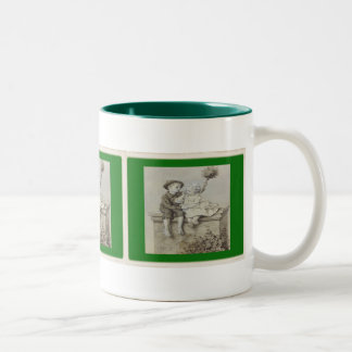 Shepherdess- & lampglassvepmugg Två-Tonad mugg