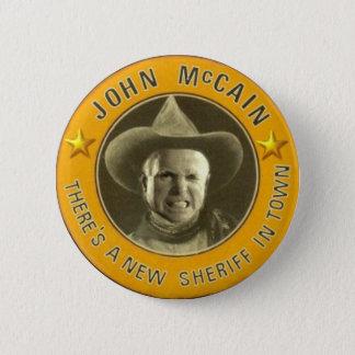 Sheriffen McCain knäppas Standard Knapp Rund 5.7 Cm