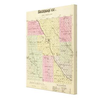 Sherman County Nebraska Canvastryck