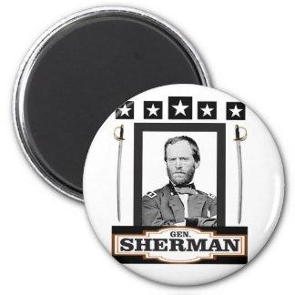 sherman stjärnasvärd magnet rund 5.7 cm