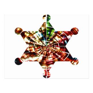 Sherrifs emblem - Holistic Sparkling röd energi Vykort