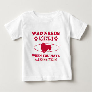 Shetland hund avelndesigner tee shirts