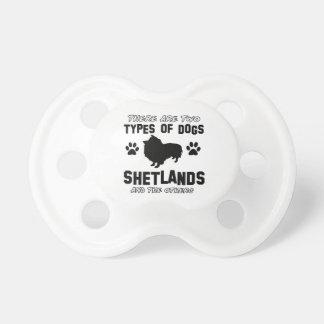 shetland hund design napp