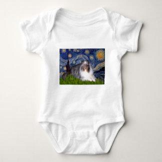 Shetland Sheepdog 17 - Starry natt T-shirt