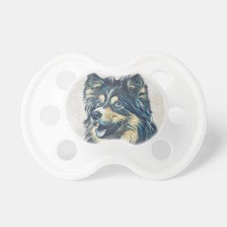 Shetland Sheepdog som målar den BooginHead® nappar