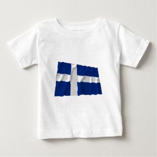 Shetland som vinkar flagga t shirts
