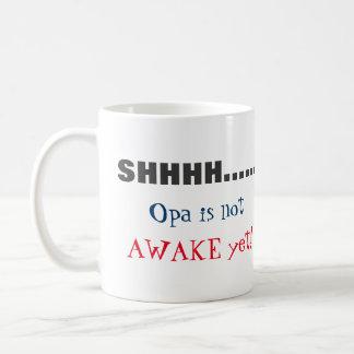 SHHH… är Opa inte den vakna beställnings- Kaffemugg