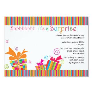 Shhh… överrrakningpartyinbjudan 12,7 x 17,8 cm inbjudningskort