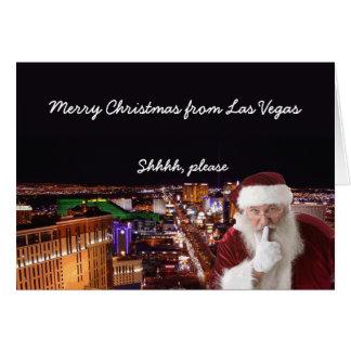 Shhhh behar den Las Vegas julkortet Kort