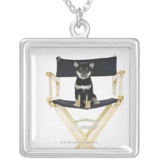 Shiba Inu hund på direktör stol Silverpläterat Halsband