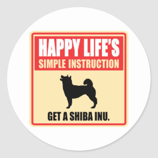 Shiba Inu Runt Klistermärke