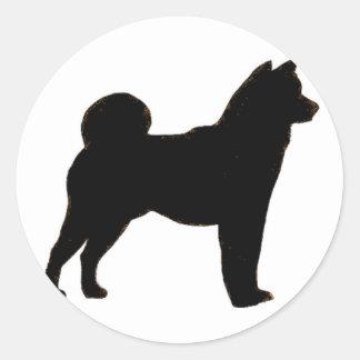 Shiba Inu silhouette Runt Klistermärke