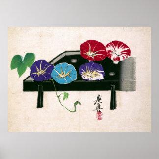 Shibata Zeshin morgonhärligheter Poster