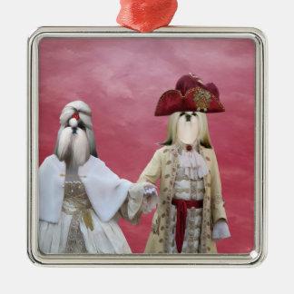 Shih Tzu drottning- och kungprydnad Julgransprydnad Metall