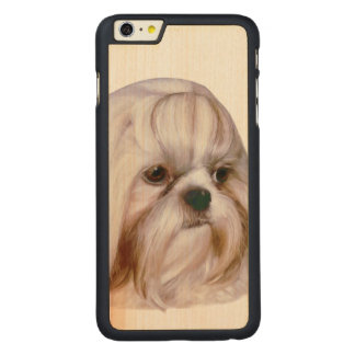 Shih Tzu hund Carved Lönn iPhone 6 Plus Skal