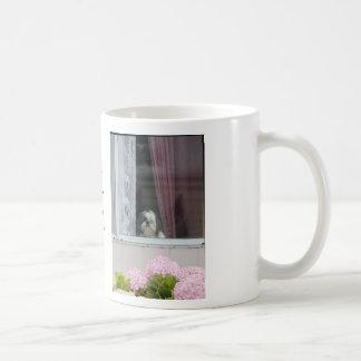Shih Tzu och vanlig hortensiablommugg Kaffemugg