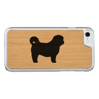 Shih Tzu Silhouette Carved iPhone 7 Skal
