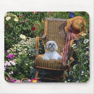 Shih Tzu trädgårds- Mousepad Musmatta