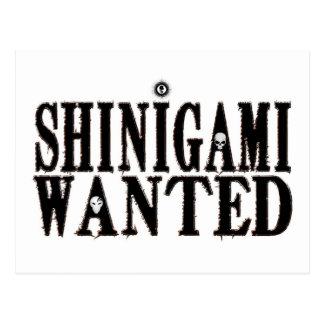 Shinigami önskade vykort