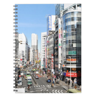 Shinjuku område i Tokyo, Japan Anteckningsbok