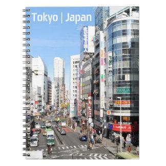 Shinjuku område i Tokyo, Japan Anteckningsbok Med Spiral